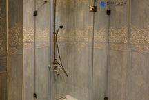 Beşgen Duş Çözümleri / Beşgen duş odaları için hazırlanmış duş kabinleri Elegance WM Serisi
