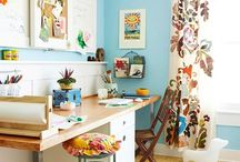 Studio Space / Inspiration, DIYs and ideas on how to organize your craft room or studio space.