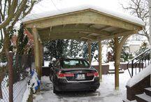 Wiaty garażowe 1 stanowiskowe drewniane