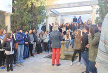 Alumnos del Grado de Turismo de la UGR, 2015 / Esta mañana nos han visitao los alumnos del Grado de Turismo de la Facultad de Ciencias Económicas y Empresariales de Granada. Han disfrutado de una amable visita al Carmen Blanco de la Fundación Rodríguez-Acosta y el Museo Gómez-Moreno