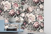 baby girl nursery / ellie cashman floral wallpaper