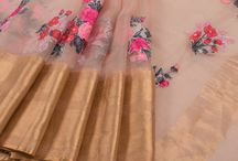 embroidery Saree's