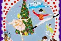 The Nutcracker Ballet / Scarf and Tote Bags, I was commissioned to design for The Royal Albert Hall.