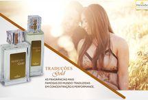 Perfumaria / Produtos no segmento de perfumaria, são diversas fragrâncias das melhores grifes do mundo, além daquelas de fabricação própria e desenvolvido com matéria prima importada.