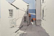 Akvarel huse
