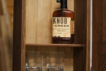 whiskey/record cabinet