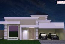 Fachadas de casas harmônicas