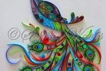 Quilling, felts and Patchwork