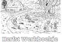herfst / De blaadjes vallen van de bomen, paddenstoelentijd... Soms kunnen de kinderen niet naar buiten in de pauze, vanwege de regen. Tijd voor binnenspeel activiteiten en weer eens een kralenplank of borduurwerkjes. Op dit bord vind je ideeën voor in je klas om in de herfst te knutselen, maar ook werkboekjes en andere leuke dingen voor tussendoor. Volg dit bord voor meer leuke tips!