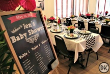"""Chevron, Chalkboards & Baby Shower Chic / Dee Kay Events designed a """"sassy"""" baby shower for our lovely Mama-to-Be Jennifer, who happens to be a math teacher. Grade school may be a faint happy memory, but it definitely brought us some great design inspiration."""