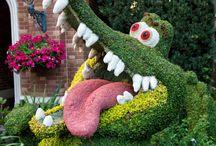 Topiary Bitki Budama Şekil verme sanatı