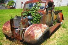 old abandoned cars and machinery
