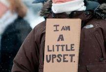 Unhappy citizens