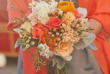 orangefarbene Hochzeit