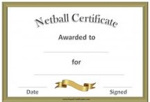 Sporting Certificate