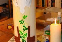 Kerzen / selbstgemachte Kerzen und Ideensammlung