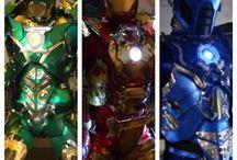 My Heroes cosplays / #Groot #IronMan #Cosplay and creations like #IronLantern and #IronSubZero