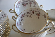 New Donation to DBFL. / Gorgeous, elegant dinner and coffee set in the Cherry Blossom pattern with 24k golden trim, Fine China from England! 116 pieces. This set is nearly a complete set for twelve. The pieces are all in fabulous vintage condition, there are no chips, cracks, crazing or repairs and the gold trim is 100% intact! Original price was $1400.00. On sale at DBFL for $380.00