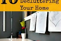 Organize & Declutter! / Start small and make goals. Many helpful ideas to get you started in this worthy effort.
