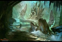 Environments / Vistas conjured up by the mind of digital artists.