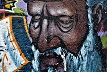 Street art / Street art is an umbrella term defining forms of visual art created in public locations, usually unsanctioned artwork executed outside of the context of traditional art venues