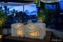 Bride & Groom Tables /  Inspiration & ideas for your Bride & Groom reception table ~  All photos by Affordable Pro Photo & Video