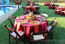 Moroccan Event / Moroccan themed event in burnt red and orange with shimmering copper.