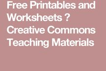Free Printables and Worksheets