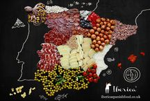 Spain Food Map   Mapa Comida Espanola / The passion of our team and the creative talent of our photographer went into creating this food map of our beloved Spain, showing the delicacies of each region.