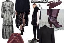 Fashion mood boards / Mood boards. Shopping and trends.