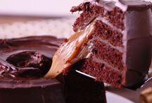 bolo chocolate e caramelo