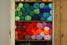 Yarn. / A board to inspire me