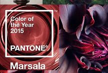 Marsala ~ Pantone Color of the Year~ Wedding Inspiration / Rich, earthy, and seductive ~ Marsala is the 2015 Pantone Color of the year. This deep red wine color can be used to create a dramatic look on your wedding day. Marsala will definitely add a dose of sophistication to any wedding.