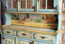 Мебель роспись