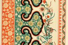 Papeles y textiles / Muestras de diseños distintas culturas