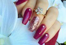 Nails swag acrylic long