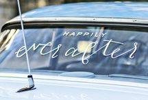 wedding: car