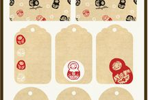 Printables, gift tags, boxes and ideas for decorating gifts / Printables for gift tags, box and gift giving and decorating  / by Aly Hodge