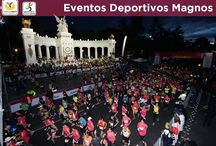 Eventos Deportivos Magnos / Diferentes opciones deportivas de recreación y esparcimiento en la Ciudad de México.