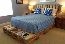 como hacer cama rustica con tarimas