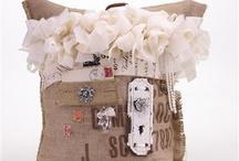 Burlap pillows / by Kami Hudgins