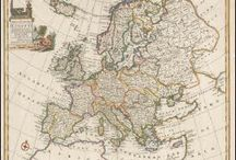 European Continent Antique Maps / Antique maps of the European Continent present an interesting view of the many changes in Countries and Kingdoms of the European Continent over the Centuries. These original old maps of the European Continent show the ebb and flow of discovery and political change. Vintage maps of the European Continent often show Country and Kingdom names and sometimes fictitious areas from incorrect geographic assumptions. The European Continent Country boundaries changed over the years as one power rose and a