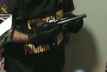 Armas y explosivos recuperados por Guardia Civil