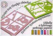Zaproszenia wycinane / Zaproszenia na urodziny, chrzciny, chrzest, roczek! Piękne, kolorowe, wycinane. Więcej na www.cardsdesign.pl  Zaproszamy!