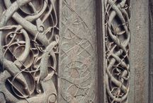 Norse woodworking / Images illustrating the ancient nordic style of wood carving.