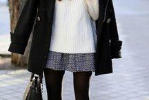 inverno com saia
