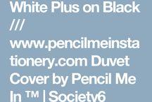 Black and white cross duvet cover