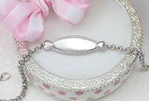Kids ID Bracelets / Sterling silver ID bracelets for boys and girls.
