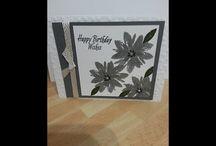 avant triple stamped flower card
