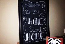 Chalkboard of the Week / Pics of each new chalkboard design I create.  / by Rachel Ramsey